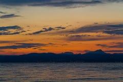 Красивый ландшафт неба на сумраке Стоковые Фотографии RF