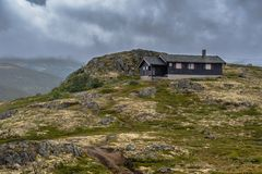 Красивый ландшафт Норвегии на лете Стоковое Изображение RF