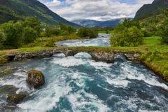 Красивый ландшафт Норвегии, Скандинавии, природы Стоковые Фото