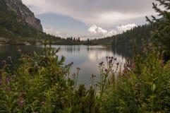 Красивый ландшафт озера горы высокие tatras Словакия Стоковое фото RF