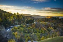 Красивый ландшафт осени в Румынии - сельской местности Стоковые Изображения RF
