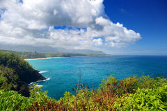 Красивый ландшафт острова Кауаи Стоковые Изображения RF