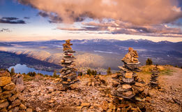 Красивый ландшафт от вершины горы Стоковые Изображения RF