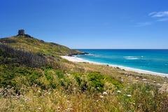 Красивый ландшафт побережья Сардинии Стоковое Изображение