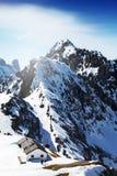 Красивый ландшафт с горами Snowy голубое небо Альпы, Austri Стоковые Изображения RF