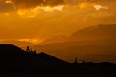 Красивый ландшафт с горой Стоковое Изображение