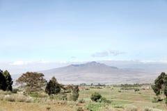 Красивый ландшафт с держателем Longonot Стоковые Изображения RF