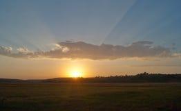 Красивый ландшафт с облачным небом и долиной Стоковая Фотография RF