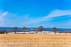 Красивый ландшафт с полем Стоковое Изображение RF