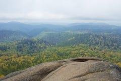 Красивый ландшафт утра в горах запас Природа Сибиря Стоковые Фото