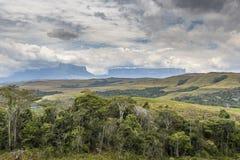 Красивый ландшафт характерный для Gran Sabana - Venezue Стоковые Изображения RF