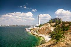 Красивый ландшафт Чёрного моря Стоковая Фотография