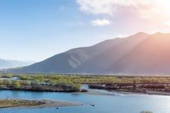 Красивый ландшафт brahmaputra стоковое изображение