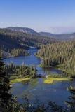 Красивый ландшафт Twin Falls обозревает стоковая фотография rf