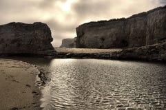 Красивый бассейн пляжа дюны Стоковые Фото