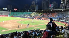 Красивый бейсбольный матч от Венесуэлы стоковая фотография rf