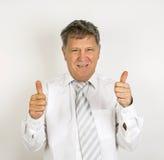 Красивый бизнесмен на белой предпосылке Стоковая Фотография RF