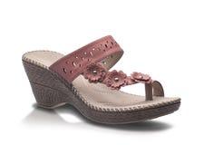 Красивый ботинок моды дамы изолированный на белизне Стоковые Изображения RF