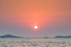 красивый большой заход солнца солнца стоковая фотография