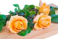 Красивый букет желтых роз на белой предпосылке Стоковое фото RF