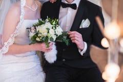 Красивый букет свадьбы зимы стоковые изображения