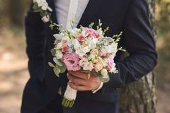 Красивый букет свадьбы цветков Стоковое Изображение RF