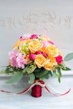 Красивый букет цветка свадьбы для невесты Стоковые Фото