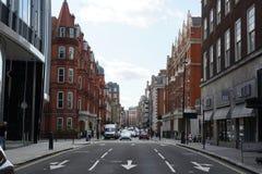 Красивый бульвар переулка в Лондоне Стоковые Фотографии RF