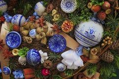 Красивый венок рождества, украшение Нового Года праздничное Стоковая Фотография RF