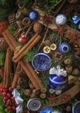Красивый венок рождества, украшение Нового Года праздничное Стоковое Фото