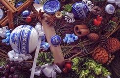 Красивый венок рождества, украшение Нового Года праздничное Стоковые Изображения