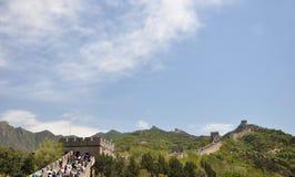 Красивый Великая Китайская Стена Стоковые Фото