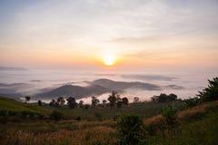 Красивый взгляд восхода солнца Стоковые Изображения RF
