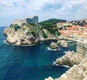 Красивый взгляд Дубровник лета Хорватия стоковые фотографии rf