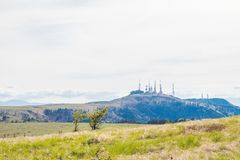 Красивый взгляд ландшафта парка Utsukushigahara и towe радио Стоковое Фото