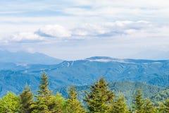 Красивый взгляд ландшафта парка Utsukushigahara с голубым sk Стоковое Изображение