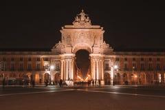 Красивый взгляд ночи главной площади Стоковые Фотографии RF