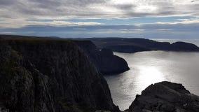 Красивый взгляд океана и скалы от северной накидки акции видеоматериалы