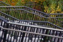 Красивый взгляд осени на лестницах Стоковое Фото