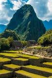 Красивый взгляд руин Machu Picchu стоковое фото rf