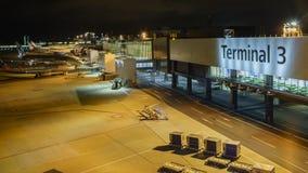 Красивый взгляд авиапорта Стоковое фото RF