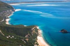 Красивый взгляд ландшафта национального парка Arrabida в Setuba стоковая фотография