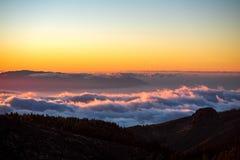 Красивый взгляд ландшафта на заходе солнца Стоковые Фото