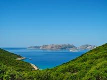 Красивый взгляд лета среднеземноморского seashore Lycian Стоковые Фотографии RF