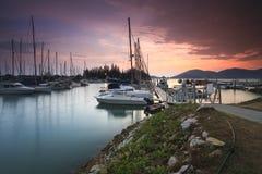Красивый взгляд состава малайзийской гавани с dur yatch Стоковое Фото