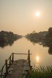Красивый взгляд Watm сельского канала Стоковые Изображения