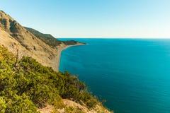 Красивый вид берега Чёрного моря стоковое фото rf