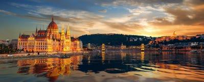 Красивый вид Будапешта стоковая фотография