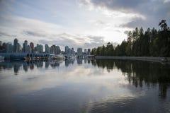 Красивый вид горизонта Ванкувера Стоковое Изображение