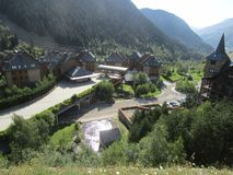 Красивый вид горного села стоковое фото